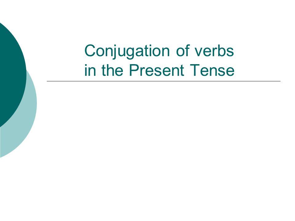 Conjugate the verbs in Present Tense: escribirTo write Yo Tú Él Nosotros Ellos escribo escribe escribimos escriben escribes