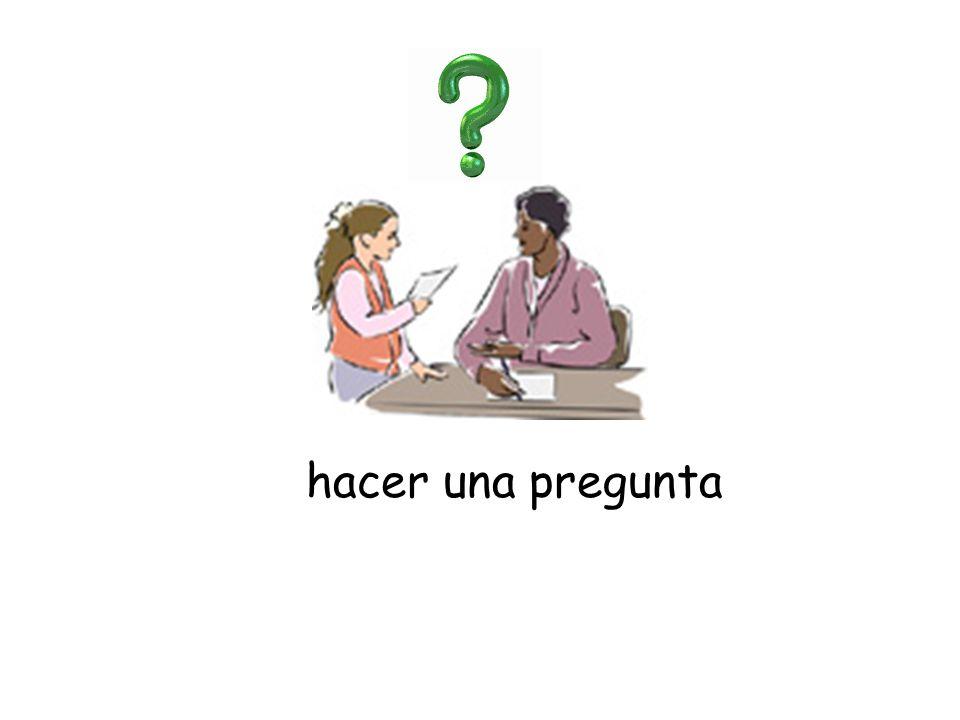 hacer una pregunta
