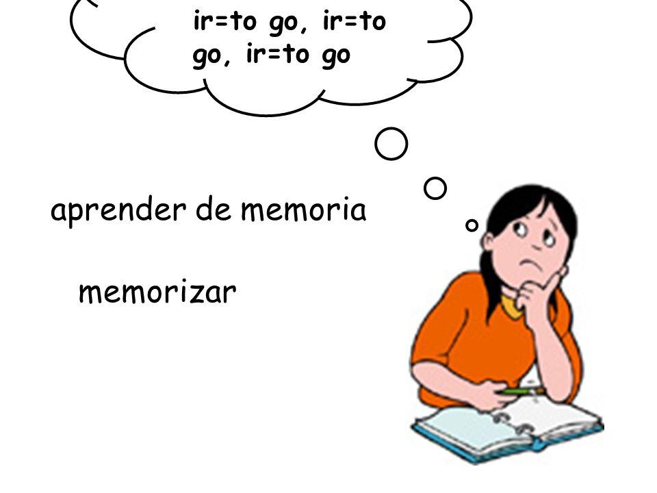 ir=to go, ir=to go, ir=to go aprender de memoria memorizar