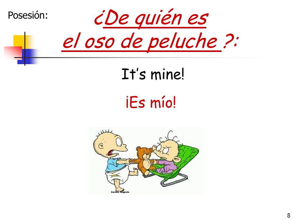 7 ¿En qué trabaja tu mamá?: What does your mom do for a living? Ella es doctora. She is a doctor. Ojo: dont need una unless you are describing doctora