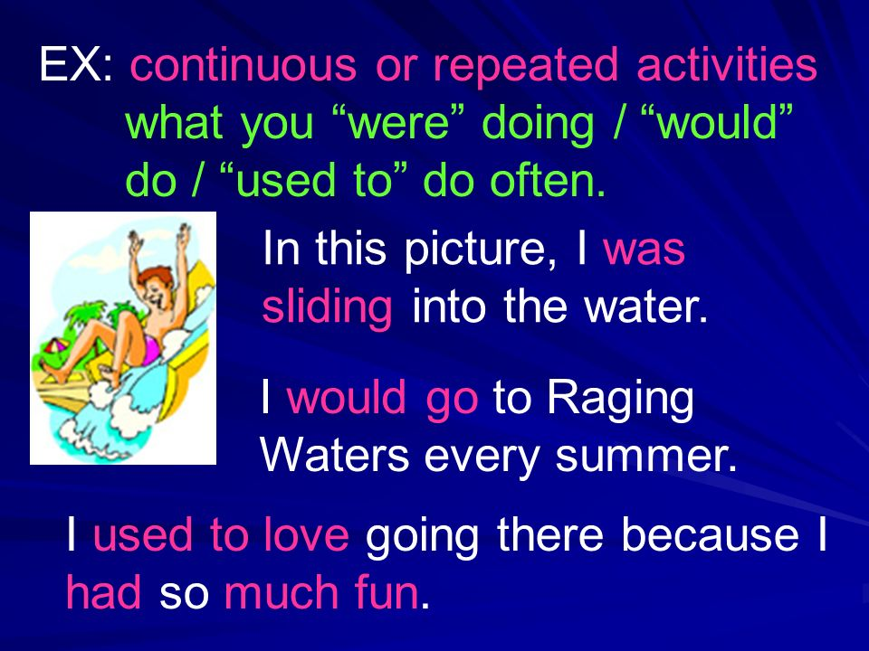 I would go to Raging Waters every summer.