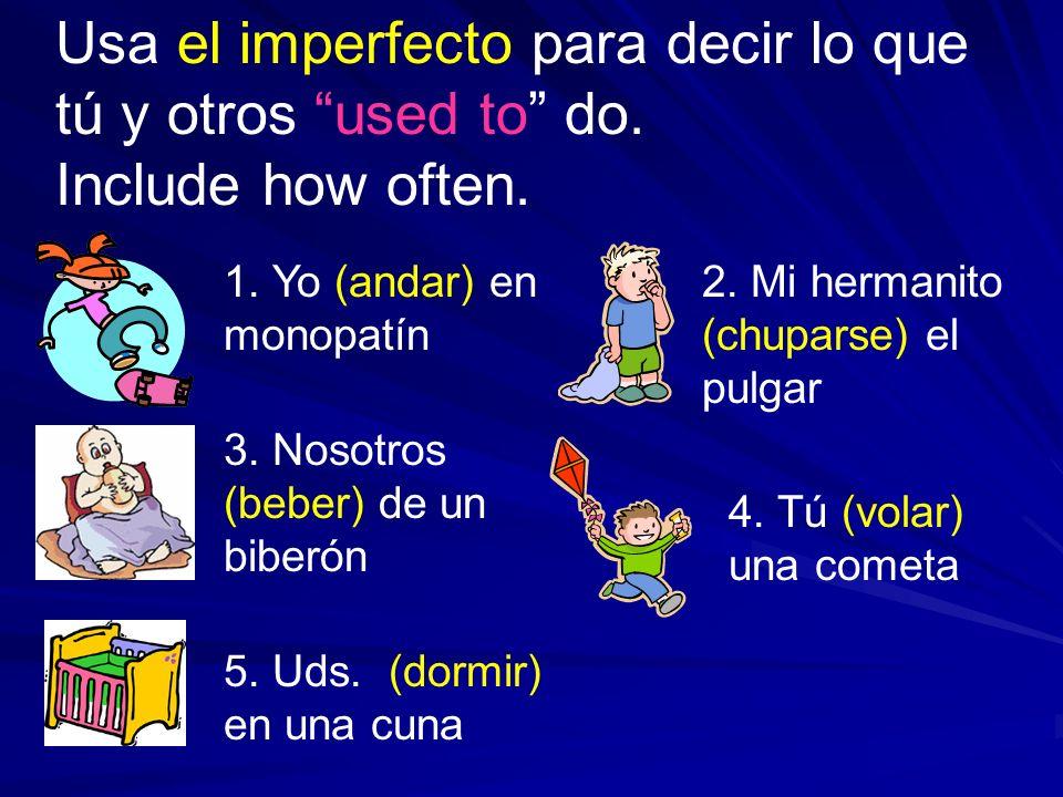 Usa el imperfecto para decir lo que tú y otros used to do.