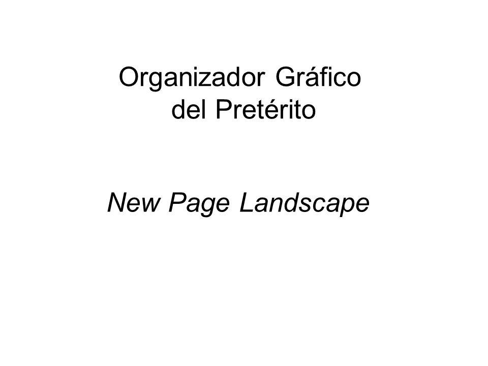 Organizador Gráfico del Pretérito New Page Landscape