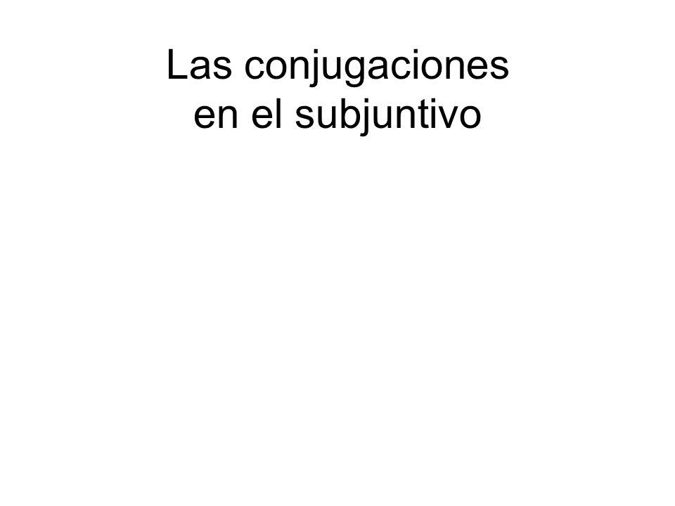 Las conjugaciones en el subjuntivo