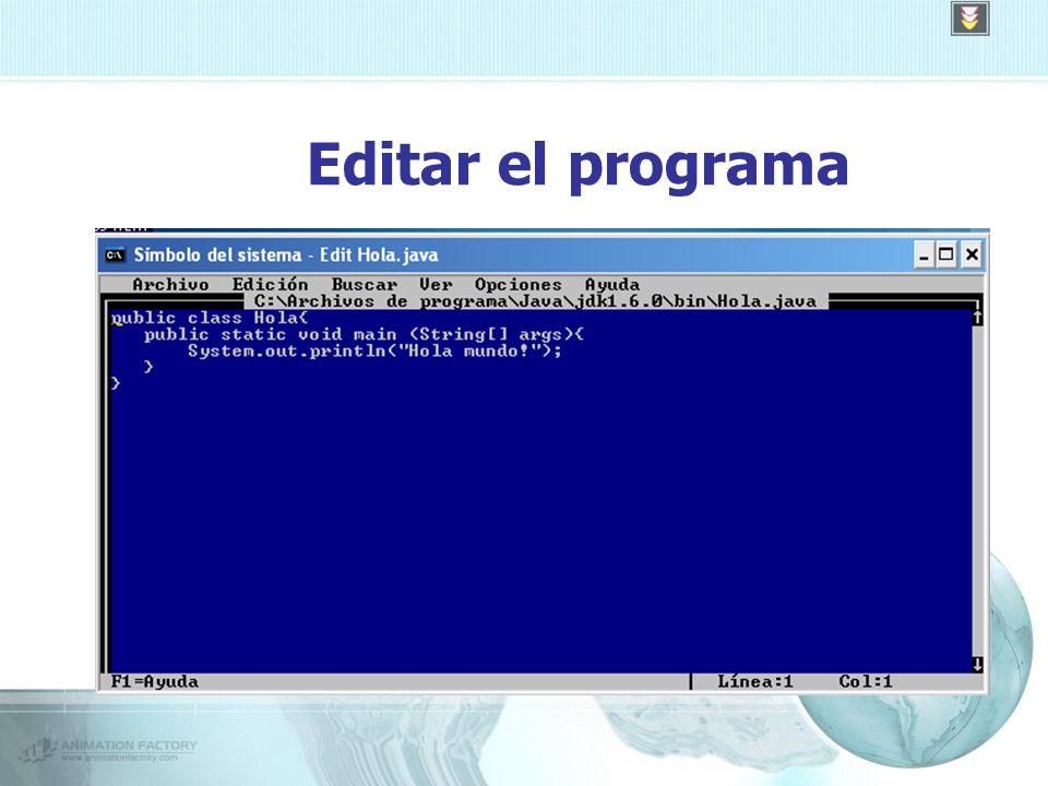 Editar el programa