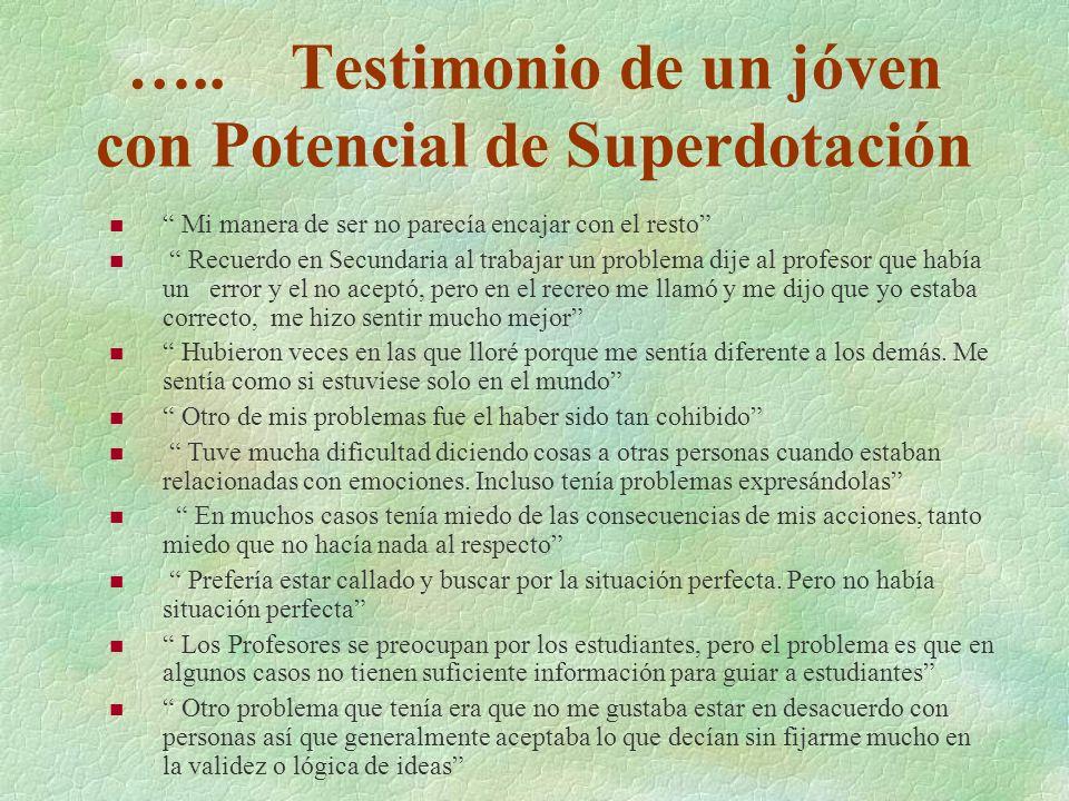 Problemas del educando potencialmente Superdotado que no recibe atención educativa especializada §Inadaptación escolar.