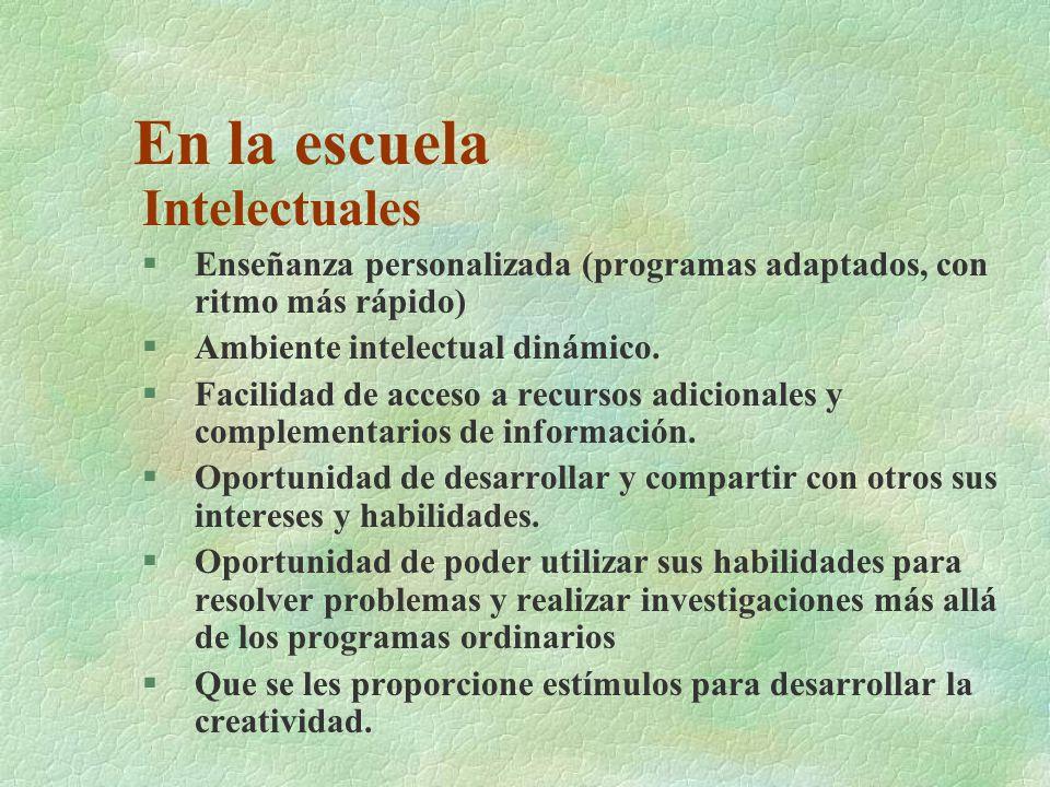 Emocionales §Seguridad necesaria para el desarrollo armónico personal.