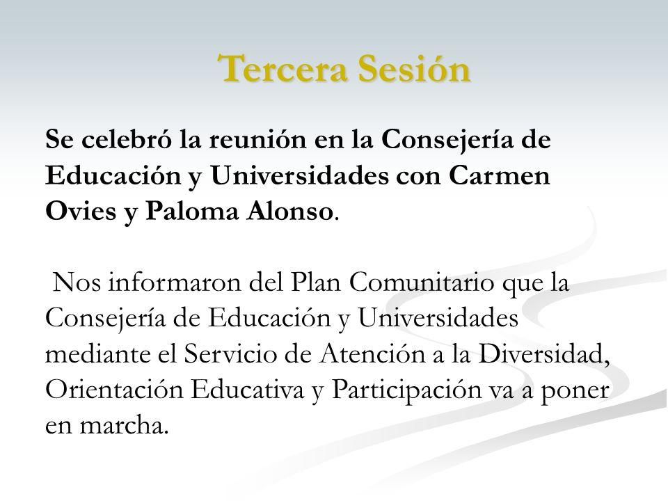 Se celebró la reunión en la Consejería de Educación y Universidades con Carmen Ovies y Paloma Alonso.