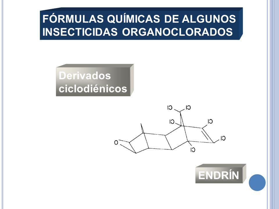 Derivados ciclodiénicos ENDRÍN FÓRMULAS QUÍMICAS DE ALGUNOS INSECTICIDAS ORGANOCLORADOS