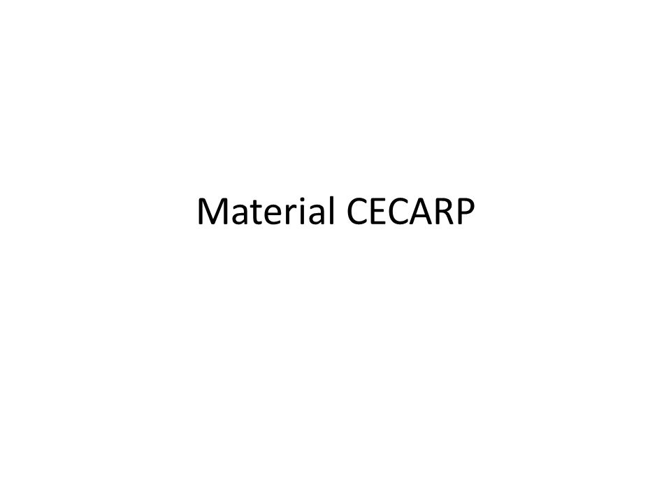 Material CECARP
