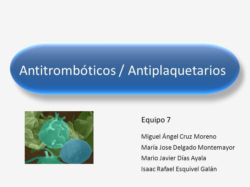 Antitrombóticos / Antiplaquetarios Tirofibán Es un inhibidor de molécula pequeña, no péptido, del GP IIb/IIIa (αIIbβ3).