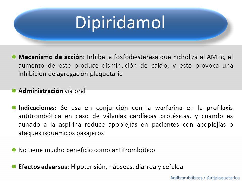 Fibrinolíticos / Trombolíticos Producen lisis de los coágulos por medio de la plasmina (enzima que degrada la fibrina) Precursor Plasminógeno Plasmina Mecanismo de acción: Mecanismo de acción: Alteran el sistema ultimo de la fibrina por medio de la plasmina Actividad: Aceleran la reacción fibrinólitica normal, disuelven coágulos formados o en formación.