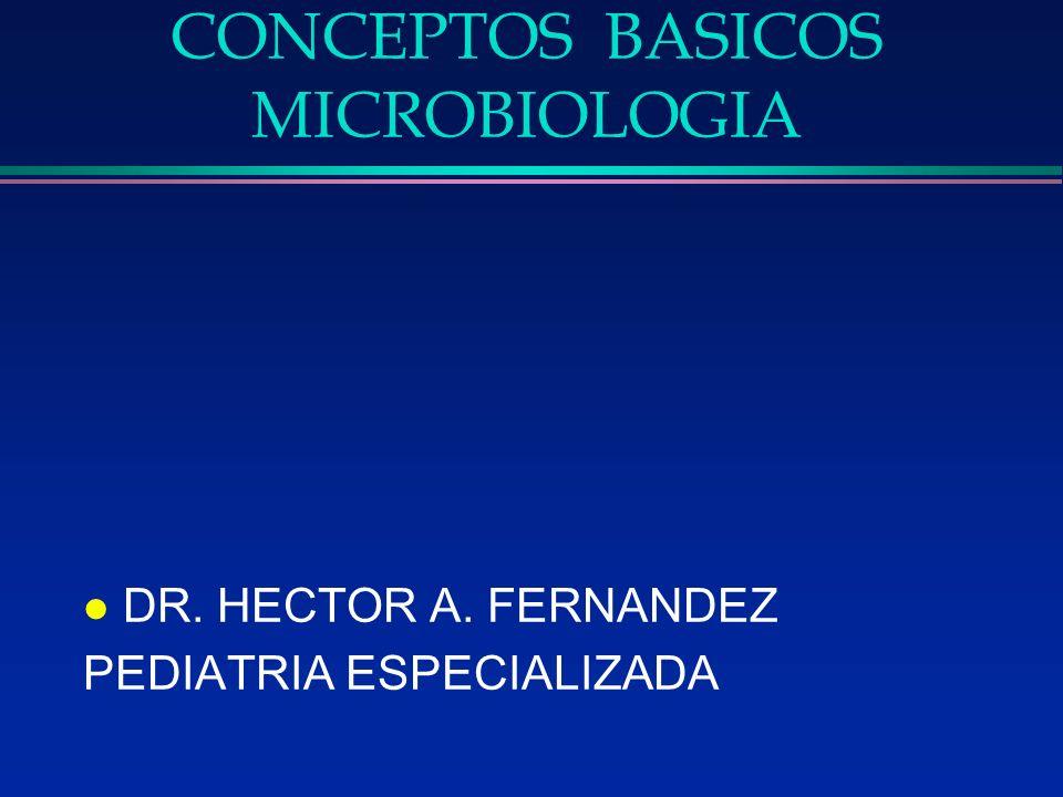 CONCEPTOS BASICOS MICROBIOLOGIA l DR. HECTOR A. FERNANDEZ PEDIATRIA ESPECIALIZADA