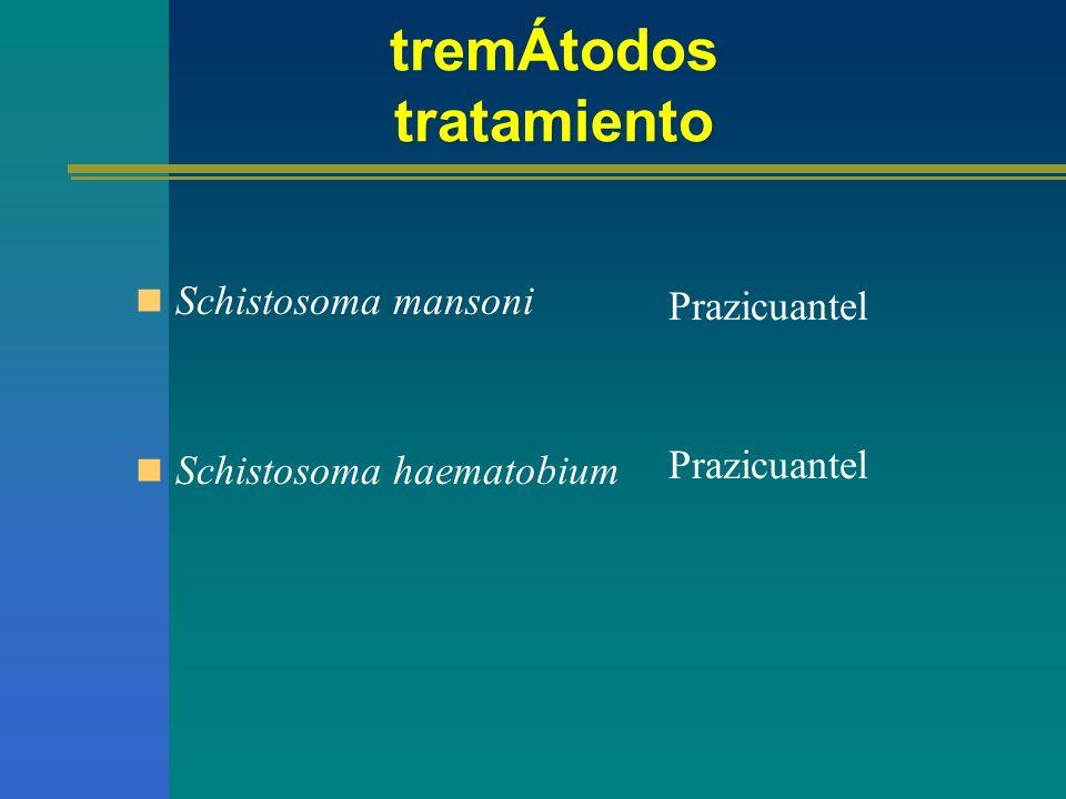 Prazicuantel Amplio espectro contra céstodos y tremátodos.
