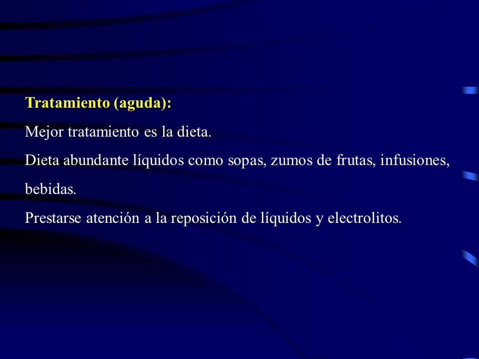 Crónica: Secundaria a otros trastornos: colitis ulcerosa, colon irritable, carcinoma gástrico, etc.