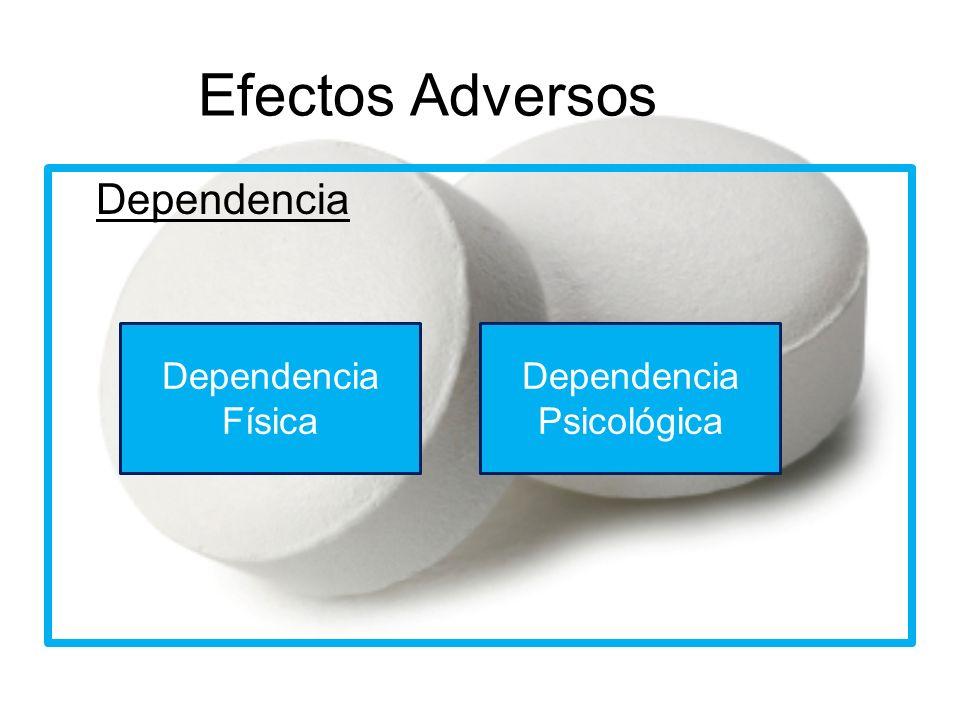 Efectos Adversos Dependencia Física Dependencia Psicológica
