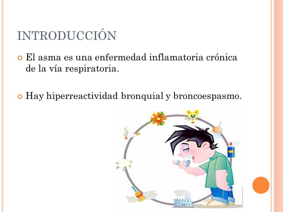 INTRODUCCIÓN El asma es una enfermedad inflamatoria crónica de la vía respiratoria.