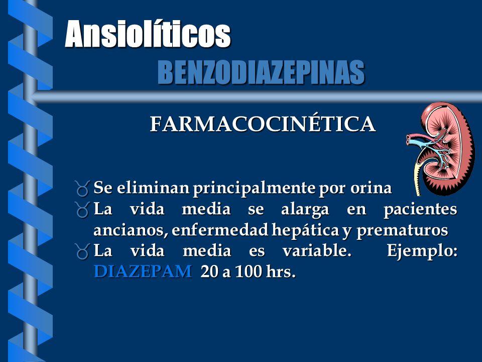 FARMACOCINÉTICA _ Se eliminan principalmente por orina _ La vida media se alarga en pacientes ancianos, enfermedad hepática y prematuros _ La vida med