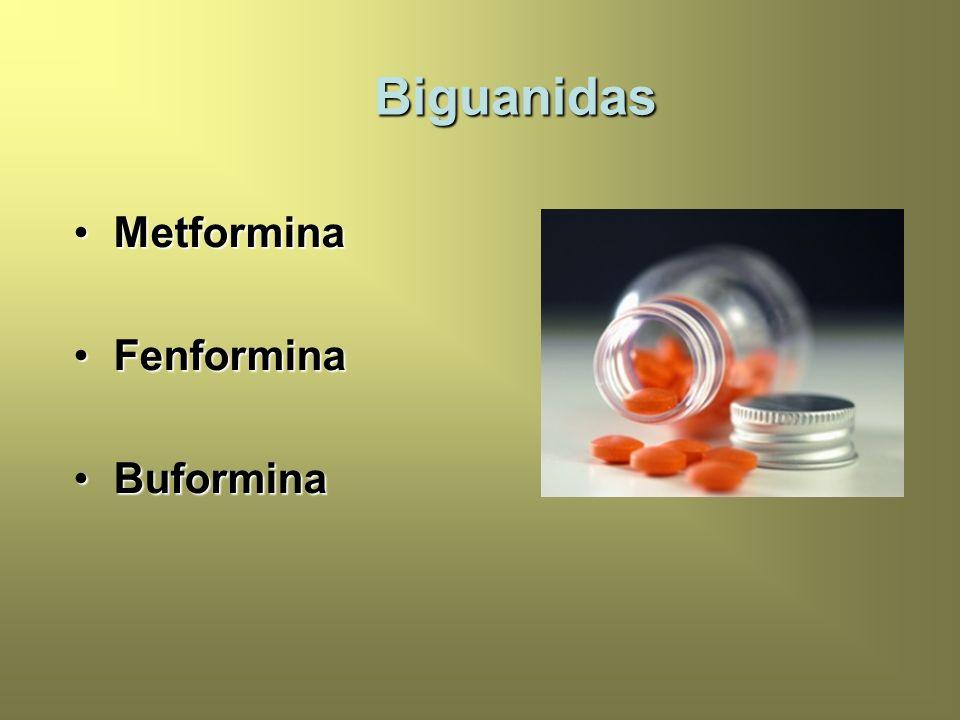 MetforminaMetformina FenforminaFenformina BuforminaBuformina Biguanidas