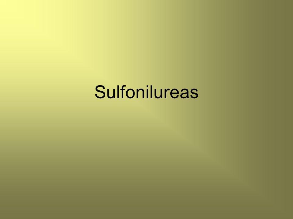 Propiedades químicas Las sulfonilureas se dividen tradicionalmente en dos grupos o generaciones de fármacos.