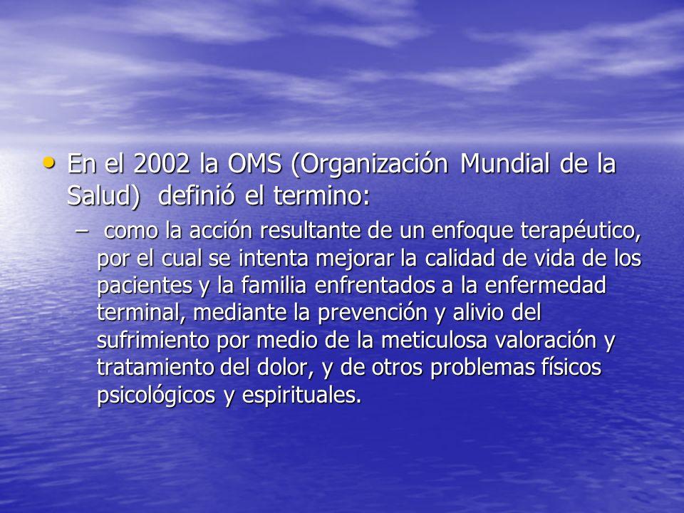 En el 2002 la OMS (Organización Mundial de la Salud) definió el termino: En el 2002 la OMS (Organización Mundial de la Salud) definió el termino: – co
