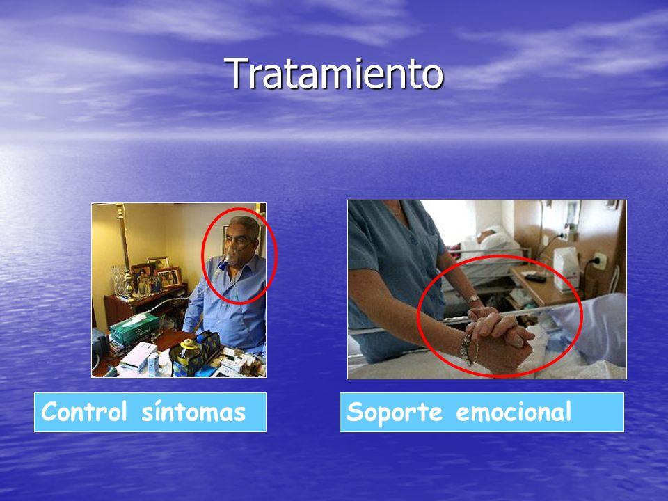 Tratamiento Control síntomasSoporte emocional