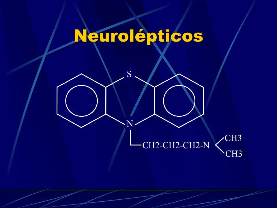 Neurolépticos CH2-CH2-CH2-N CH3 S N