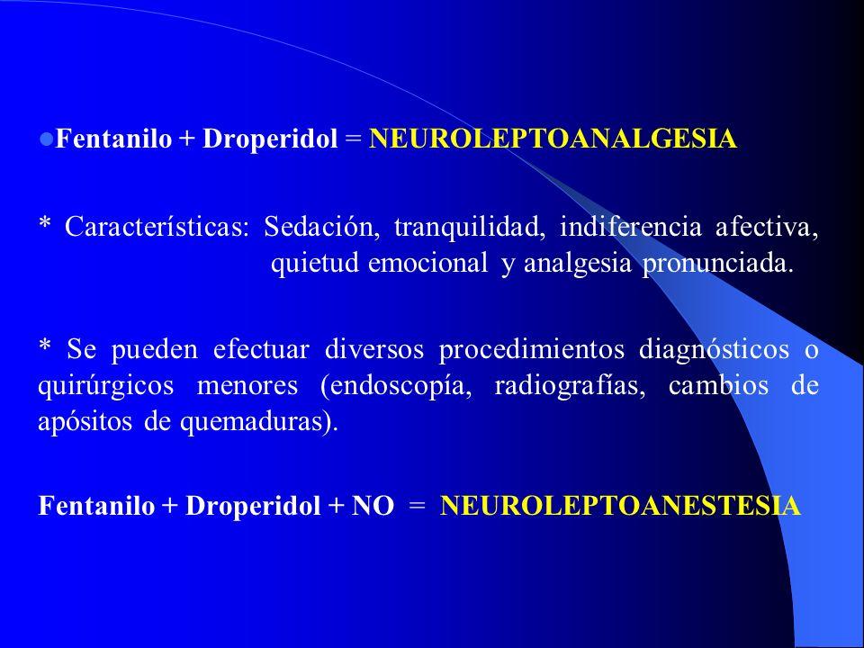 FENTANILO, ALFENTANILO Y SUFENTANILO Analgésicos narcóticos. Deprimen la respiración. Por su efecto analgésico son muy utilizados en Cirugía. Fentanil