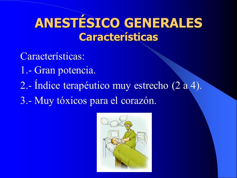 Características: Inducción y recuperación rápida y agradable. Cambios rápidos en la profundidad de la anestesia. Relajación adecuada del músculo estri