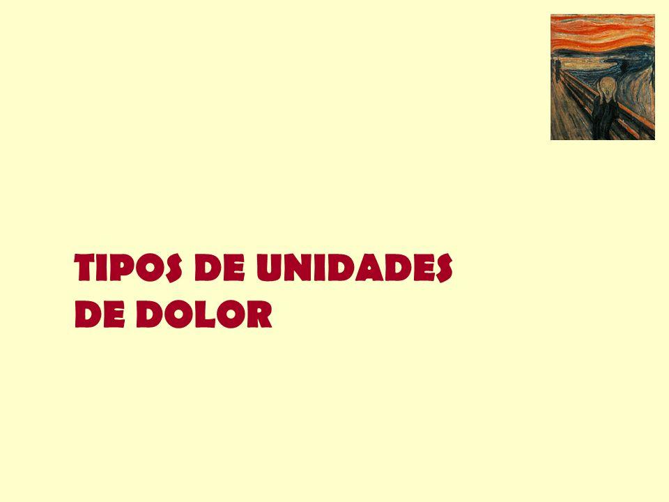 TIPOS DE UNIDADES DE DOLOR