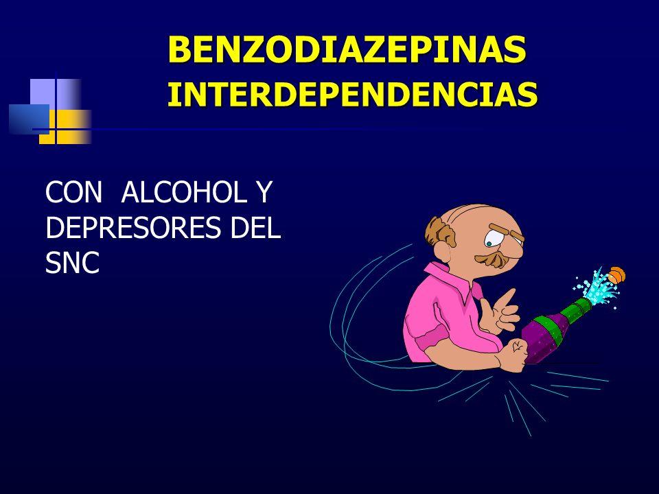 BENZODIAZEPINAS INTERDEPENDENCIAS CON ALCOHOL Y DEPRESORES DEL SNC