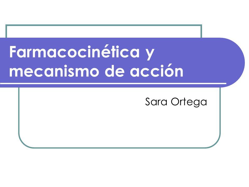 Farmacocinética y mecanismo de acción Sara Ortega