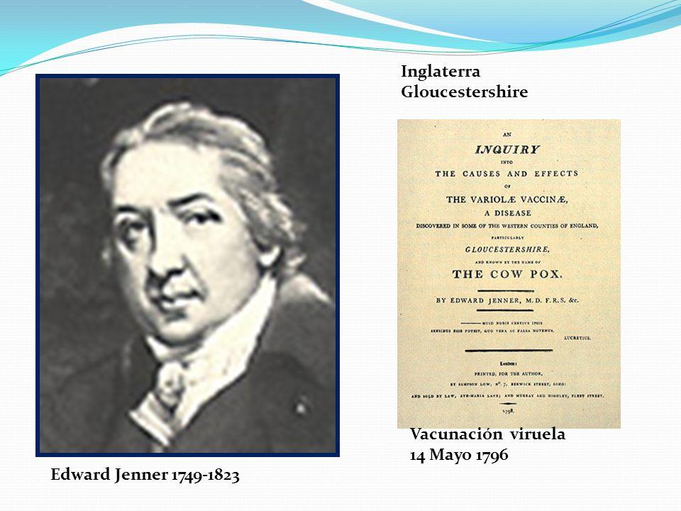 Vacunación viruela 14 Mayo 1796 Inglaterra Gloucestershire Edward Jenner 1749-1823
