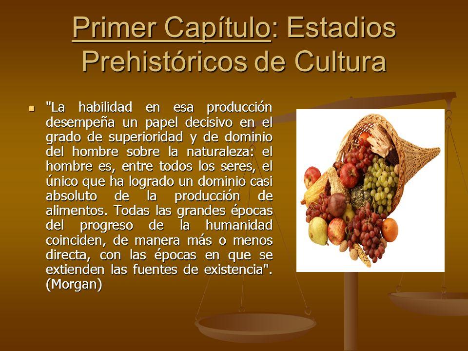 Primer Capítulo: Estadios Prehistóricos de Cultura