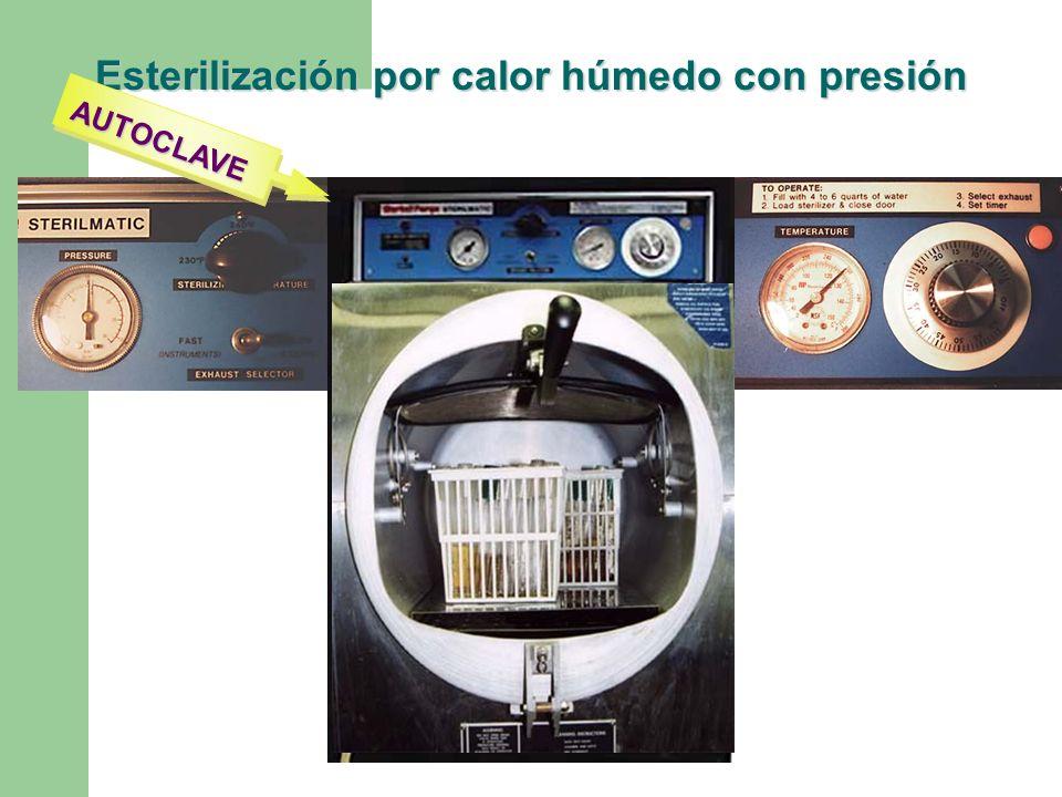 Esterilización por calor húmedo con presión AUTOCLAVE