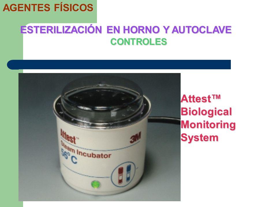 CONTROLES ESTERILIZACIÓN EN HORNO Y AUTOCLAVE AGENTES FÍSICOS Attest Biological Monitoring System