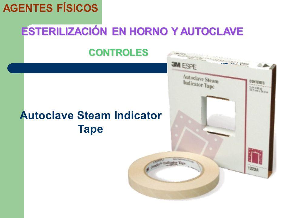 CONTROLES ESTERILIZACIÓN EN HORNO Y AUTOCLAVE AGENTES FÍSICOS Autoclave Steam Indicator Tape