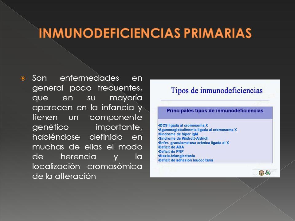 En ellas se afecta la parte específica de la respuesta inmunitaria (aquella capaz de reconocer al antígeno): los linfocitos T o B, o los anticuerpos.