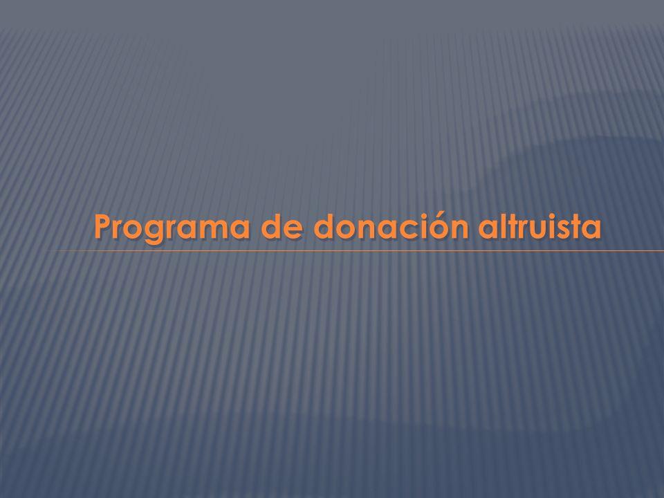 Programa de donación altruista
