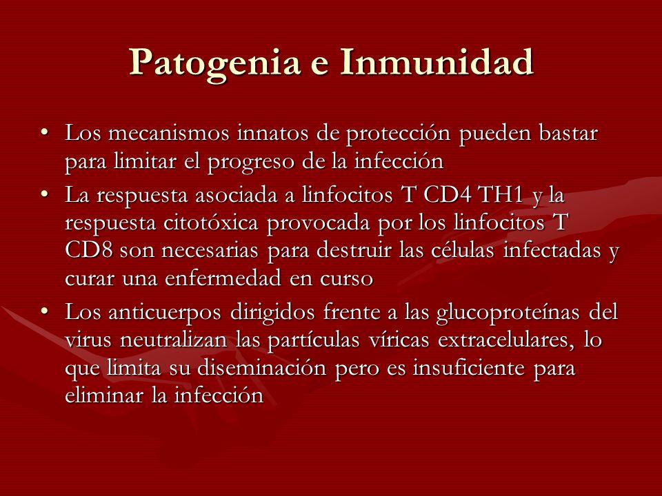 Patogenia e Inmunidad Los mecanismos innatos de protección pueden bastar para limitar el progreso de la infecciónLos mecanismos innatos de protección