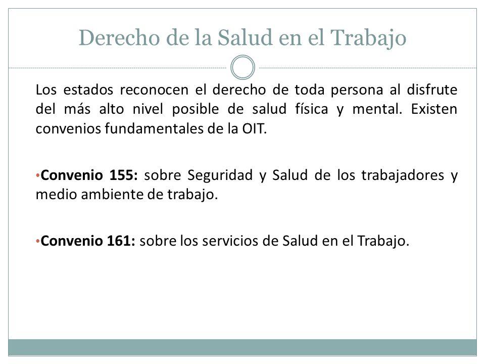 Derecho de la Salud en el Trabajo En la Constitución Política del Ecuador sección segunda Del trabajo: Art 35, inciso 11 se establece que el empleador es responsable de las obligaciones laborales.