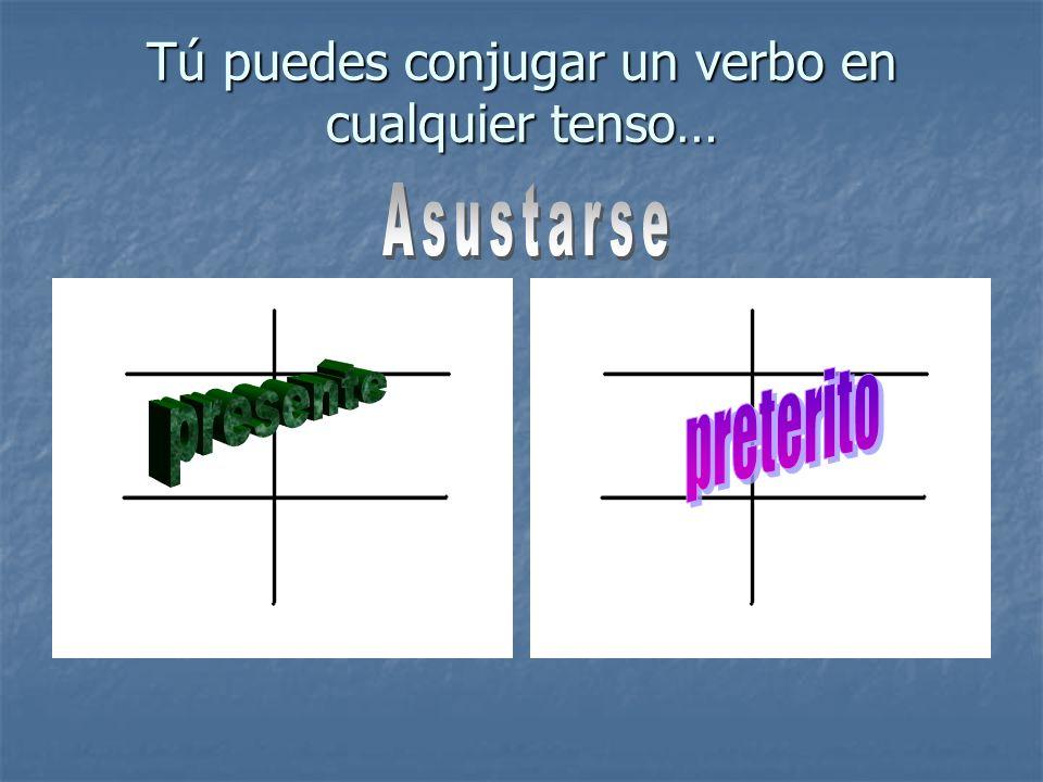 Tú puedes conjugar un verbo en cualquier tenso…