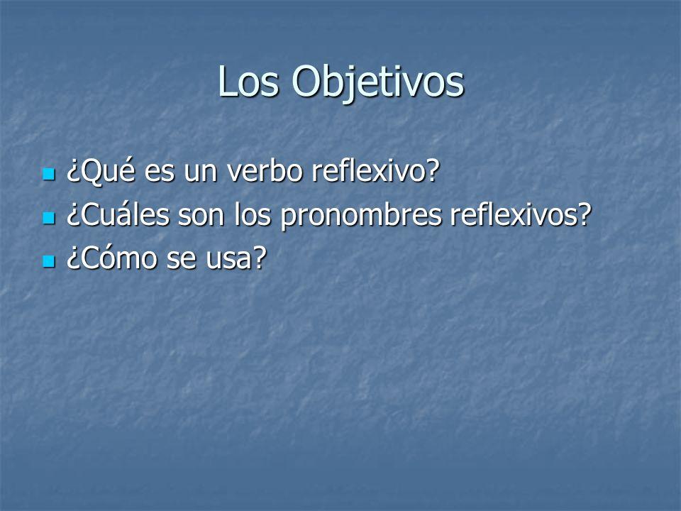 ¿Qué es un verbo reflexivo.Es un verbo que refleja su acción al sujeto.