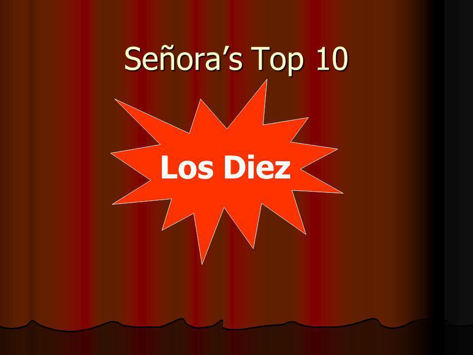 Señoras Top 10 Los Diez