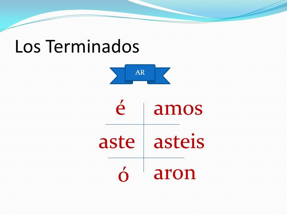 Los Ejemplos English Español El presente: I talk El pretérito: I talked Yo hablo Yo hablé