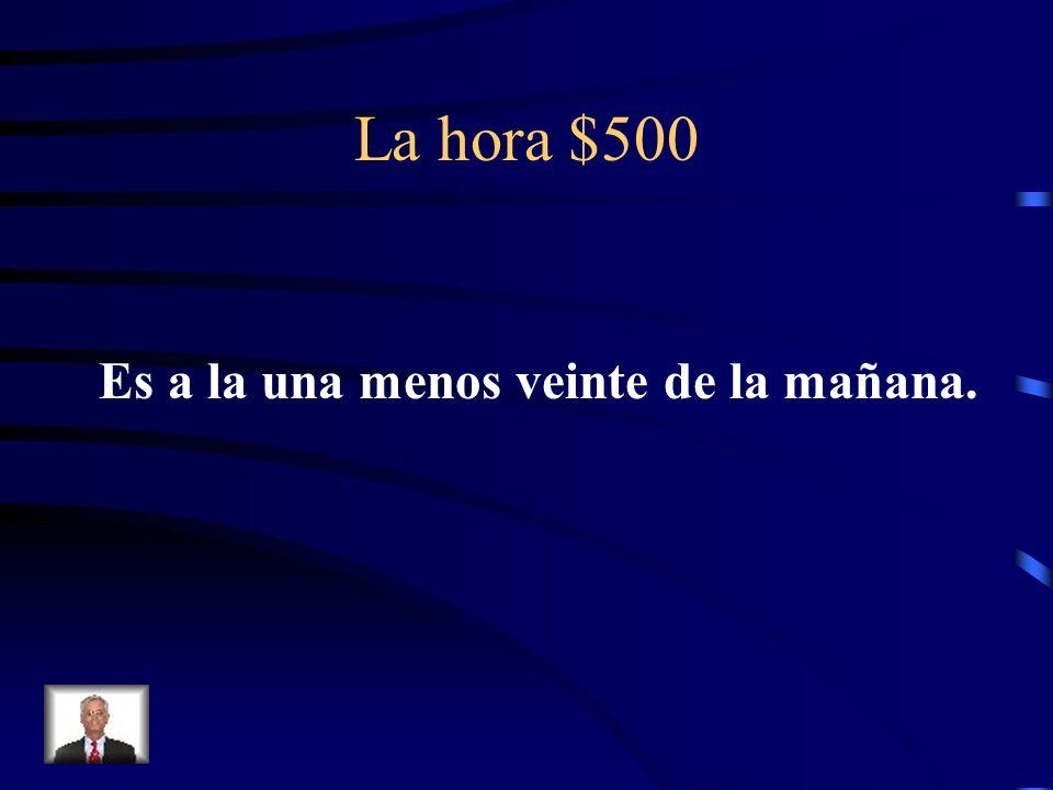 La hora $500 ¿Cómo se dice It is at 12:40 A.M en español?