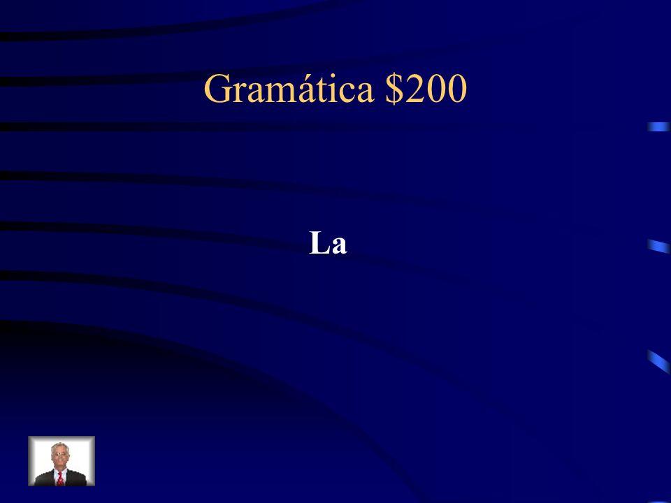 Gramática $200 What definite article goes with the noun manzana?