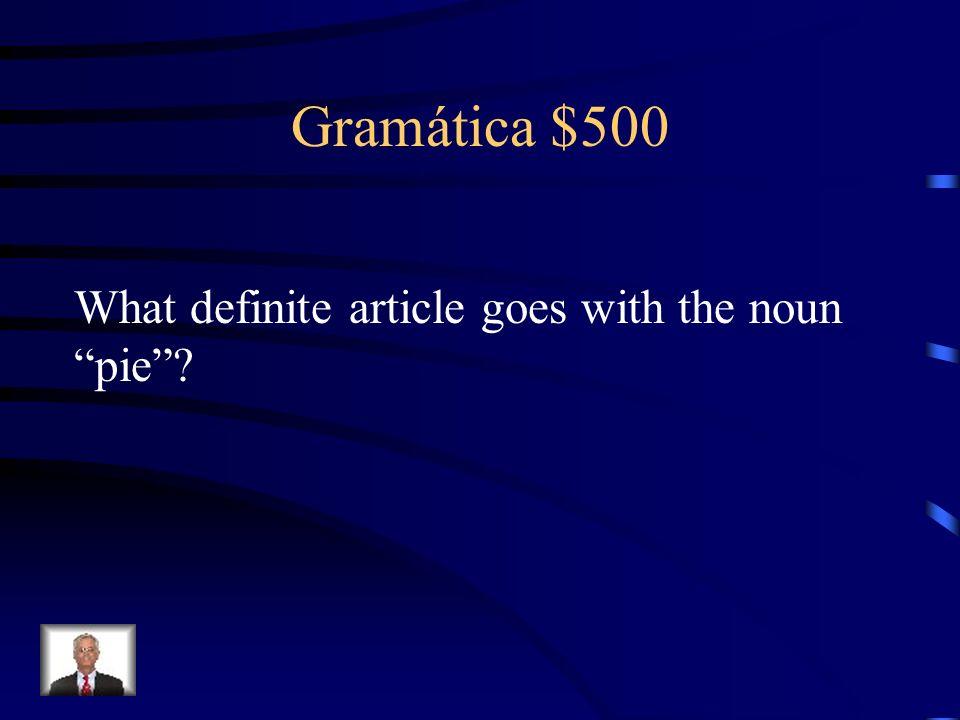Gramática $400 Las