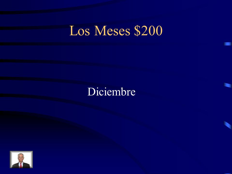 Los Meses $200 ¿Cómo se escribe December en español?