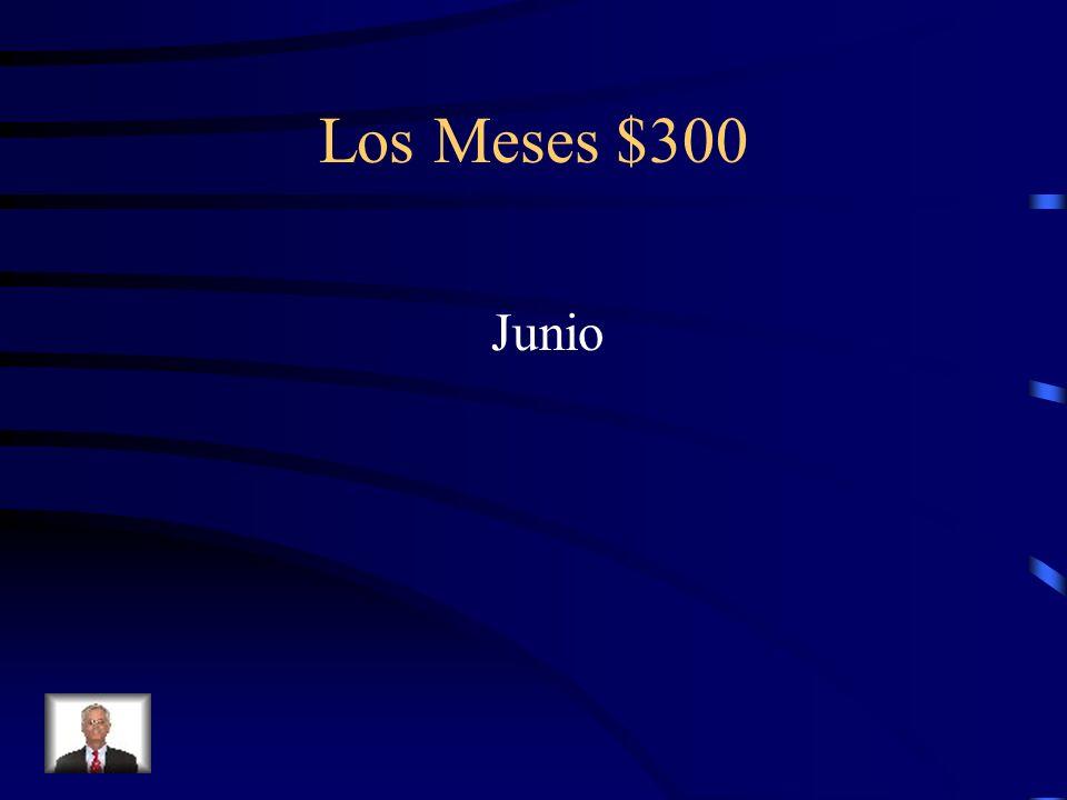Los Meses $300 ¿Cómo se escribe June en español?